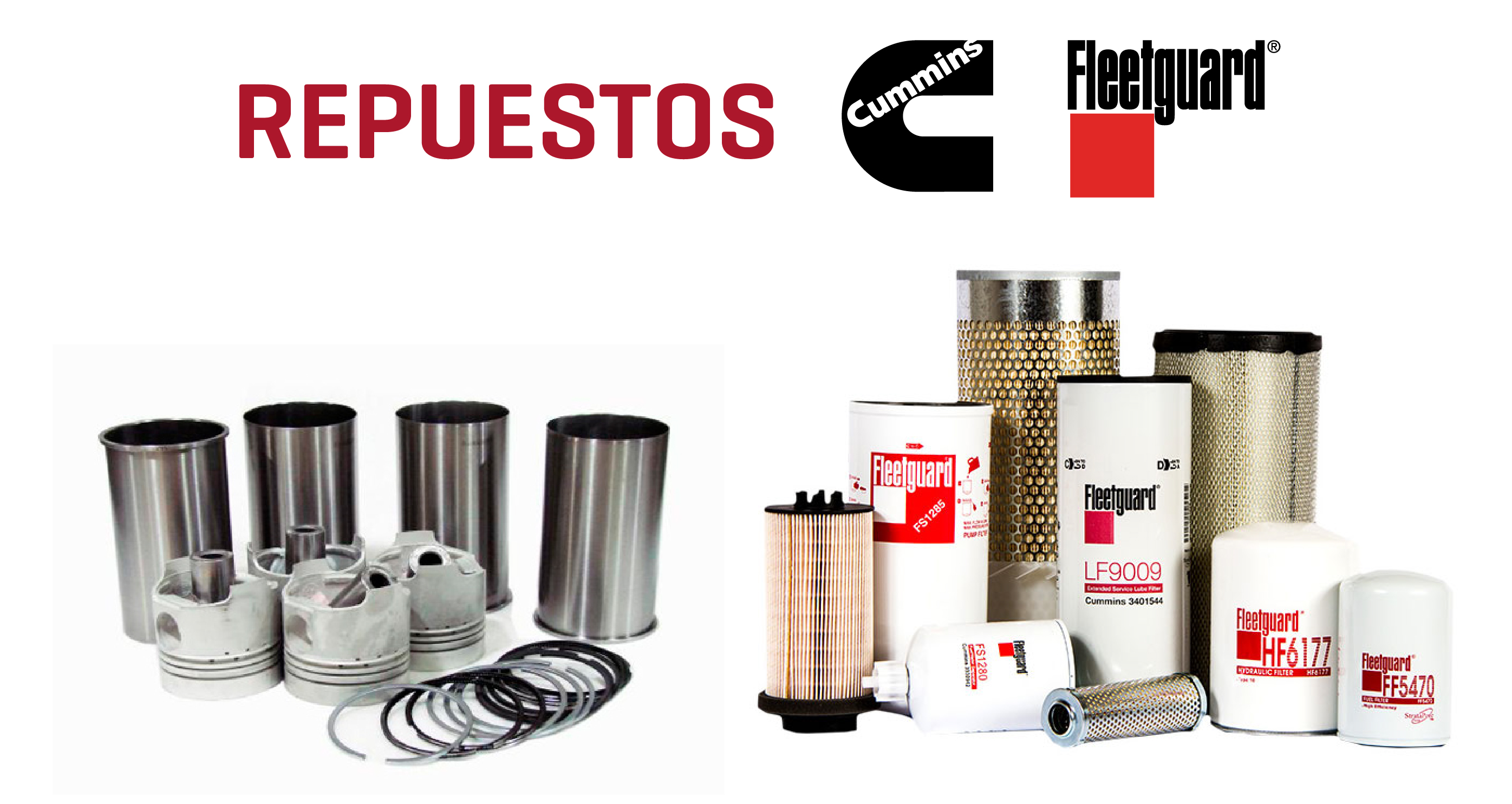 Repuestos cummins filtros fleetguard