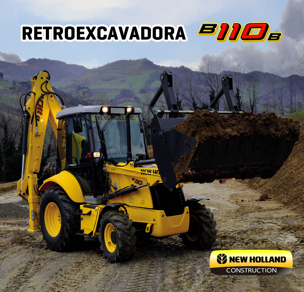 Retroexcavadora b110b new holland construccion peru